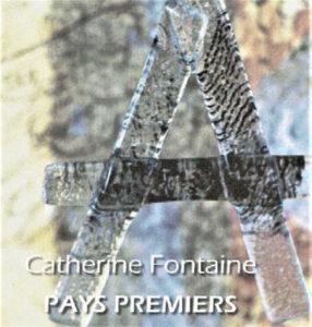 """Exposition Catherine Fontaine """"Pays Premiers"""" livres - peintures - objets sculptés, textes de Marie-Hélène Lafon à la Médiatheque Les Sources 56530 Quéven"""