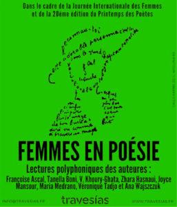Femmes en Poésie à la librairie Antinoê à Brest dans le cadre de la Journée Internationale des Femmes et du 20ème Printemps des Poètes