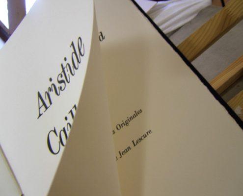 Aristide Caillaud, Gravures, préface Jean Lescure, Atelier Hervé Aussant, 1985