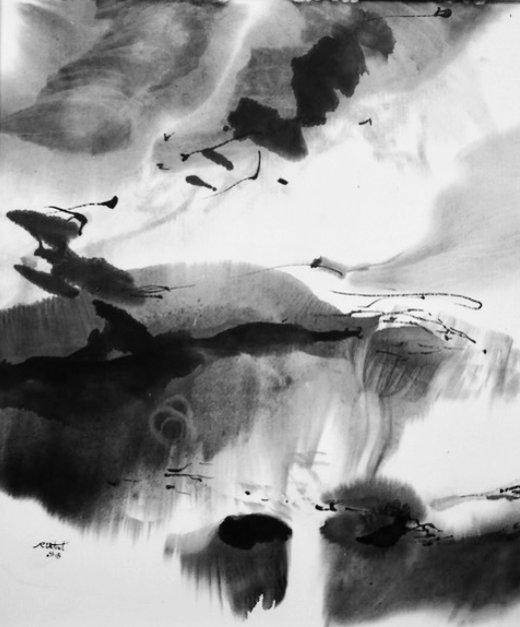 """Reina Vidal exposition """"Au cœur du papier xuan """" Galerie-Librairie Impressions 17 rue Meslay 75003 Paris du 22 février au 23 mars 2019"""