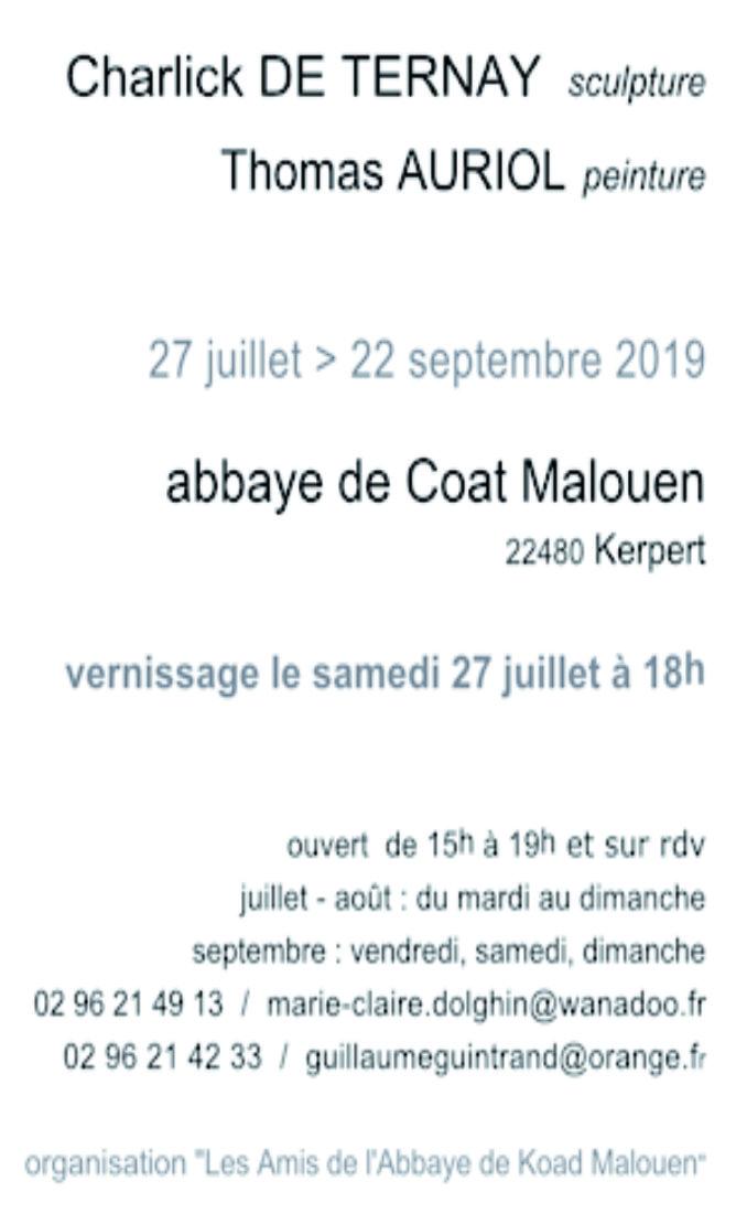 Charlick-de-Ternay_Thomas-Auriol_Abbaye-de-Coat-Malouen_texte